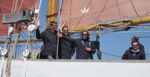 Navigation en vieux gréement dans le Golfe du Morbihan.